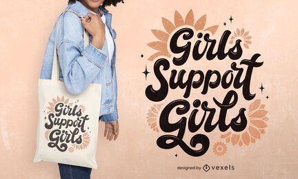 Diseño de bolso tote del día de la mujer