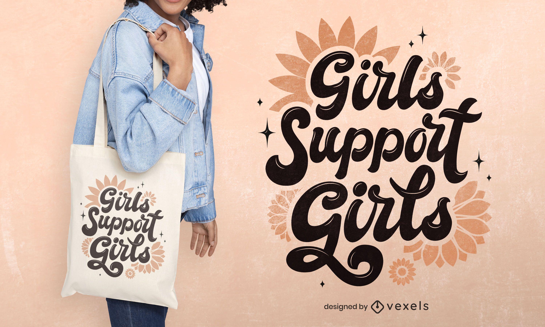 Women's day tote bag design