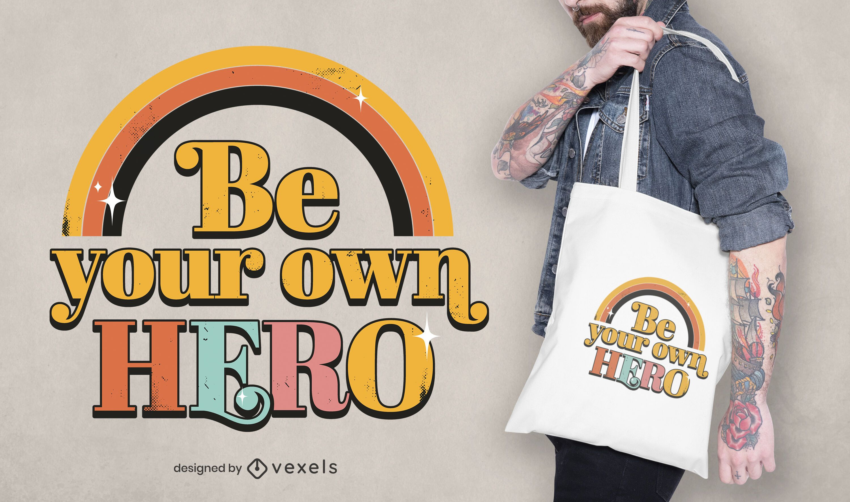 Your own hero tote bag design