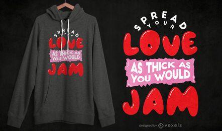 Divulgue o design de sua camiseta de amor
