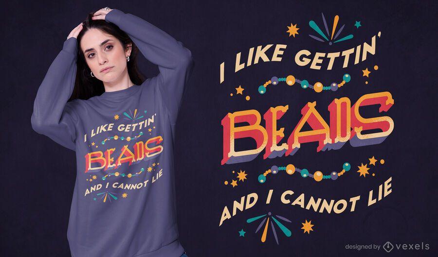 Getting beads t-shirt design