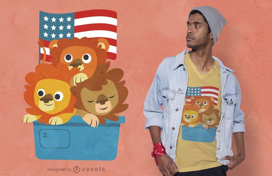 Lion cubs t-shirt design