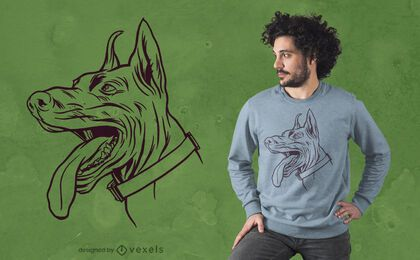 Dobermann Hund T-Shirt Design