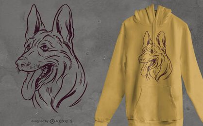 Belgian shepherd t-shirt design
