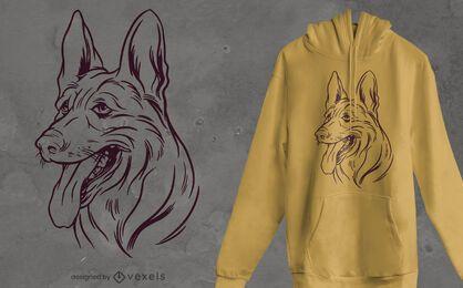 Diseño de camiseta de pastor belga