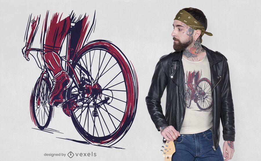 Muscular cyclist t-shirt design