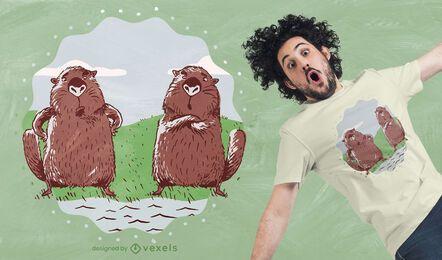 Design de camiseta Beavers River