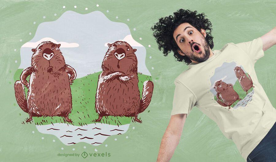 Diseño de camiseta de Beavers River