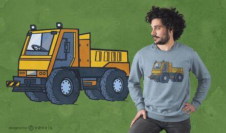 Diseño de camiseta de transportador de equipo.