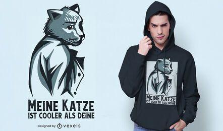 Design de t-shirt de gato empresarial