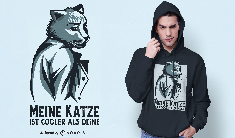 Business cat t-shirt design