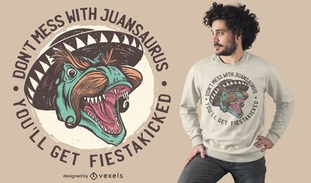 Mexican T-Rex t-shirt design