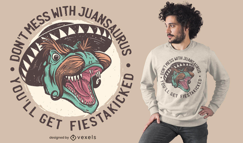 Mexican T-Rex t-shirt design