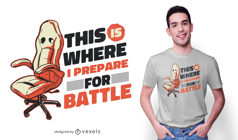 Design de t-shirt de cadeira de jogador