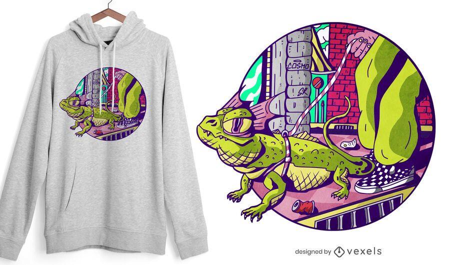 Cool lizard t-shirt design