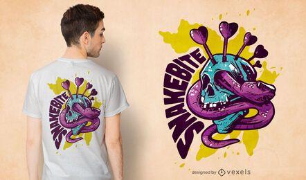 Diseño de camiseta de serpiente dardo