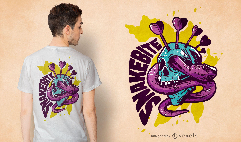 Dart snake t-shirt design