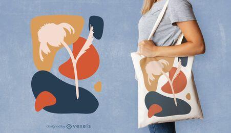 Abstraktes Blumen-Tragetaschen-Design