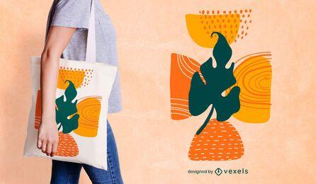 Design de sacola em formato de folha