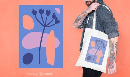 Abstract organic tote bag design