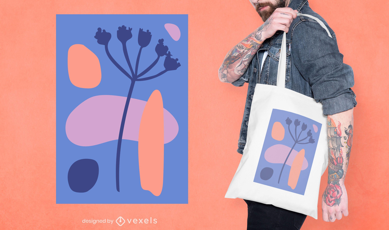 Abstract organic tote bag design