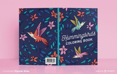 Diseño de portada de libro de colibríes