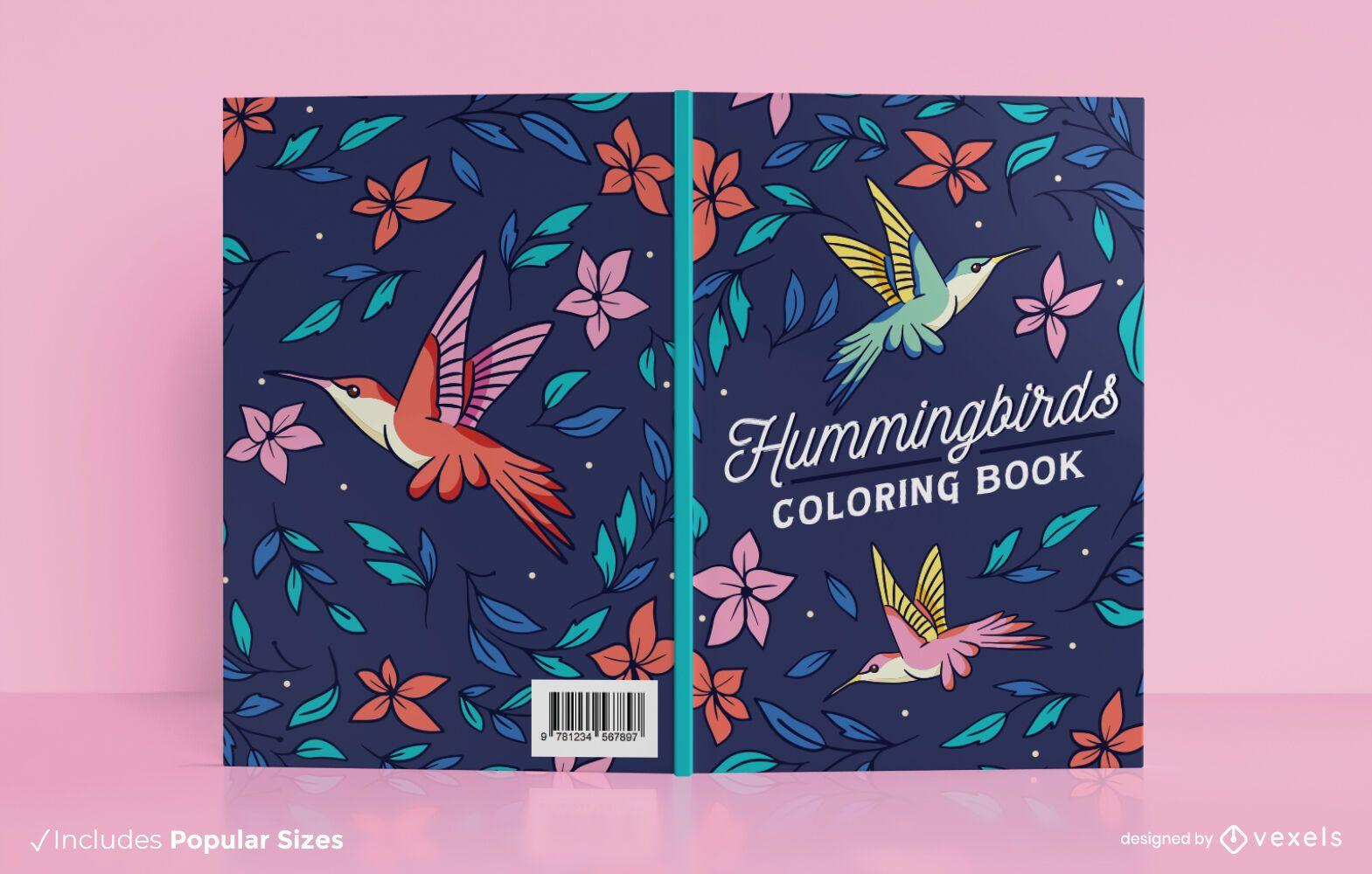 Dise?o de portada de libro de colibr?es