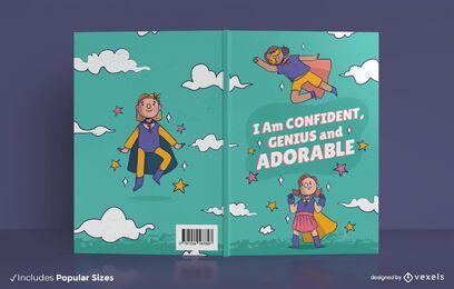Design de capa de livro para crianças confiantes