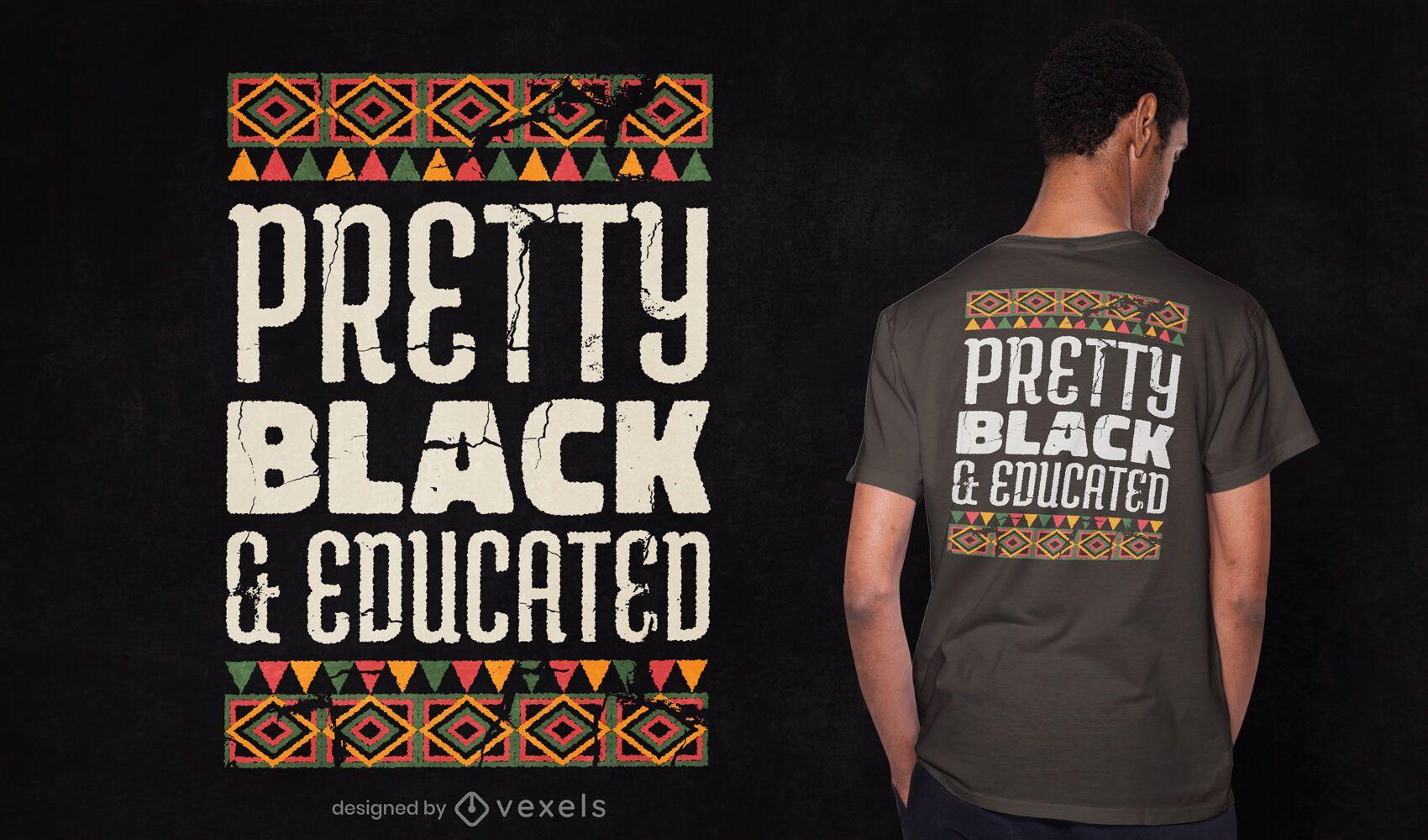 Diseño de camiseta bastante negro y educado.