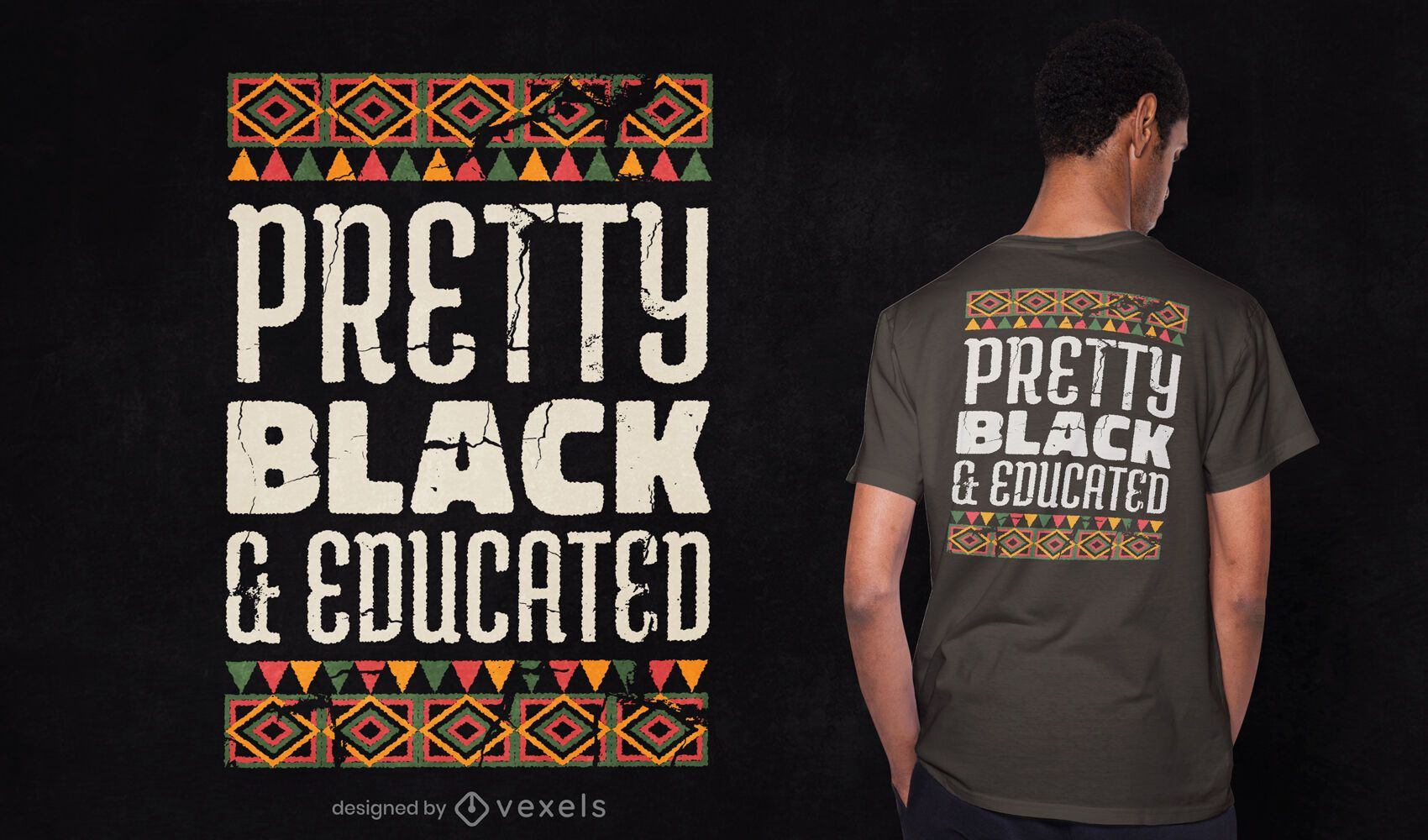 Pretty black and educated t-shirt design