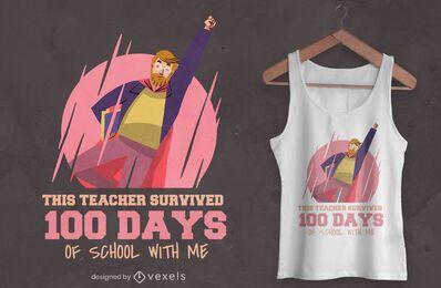Superhero teacher t-shirt design