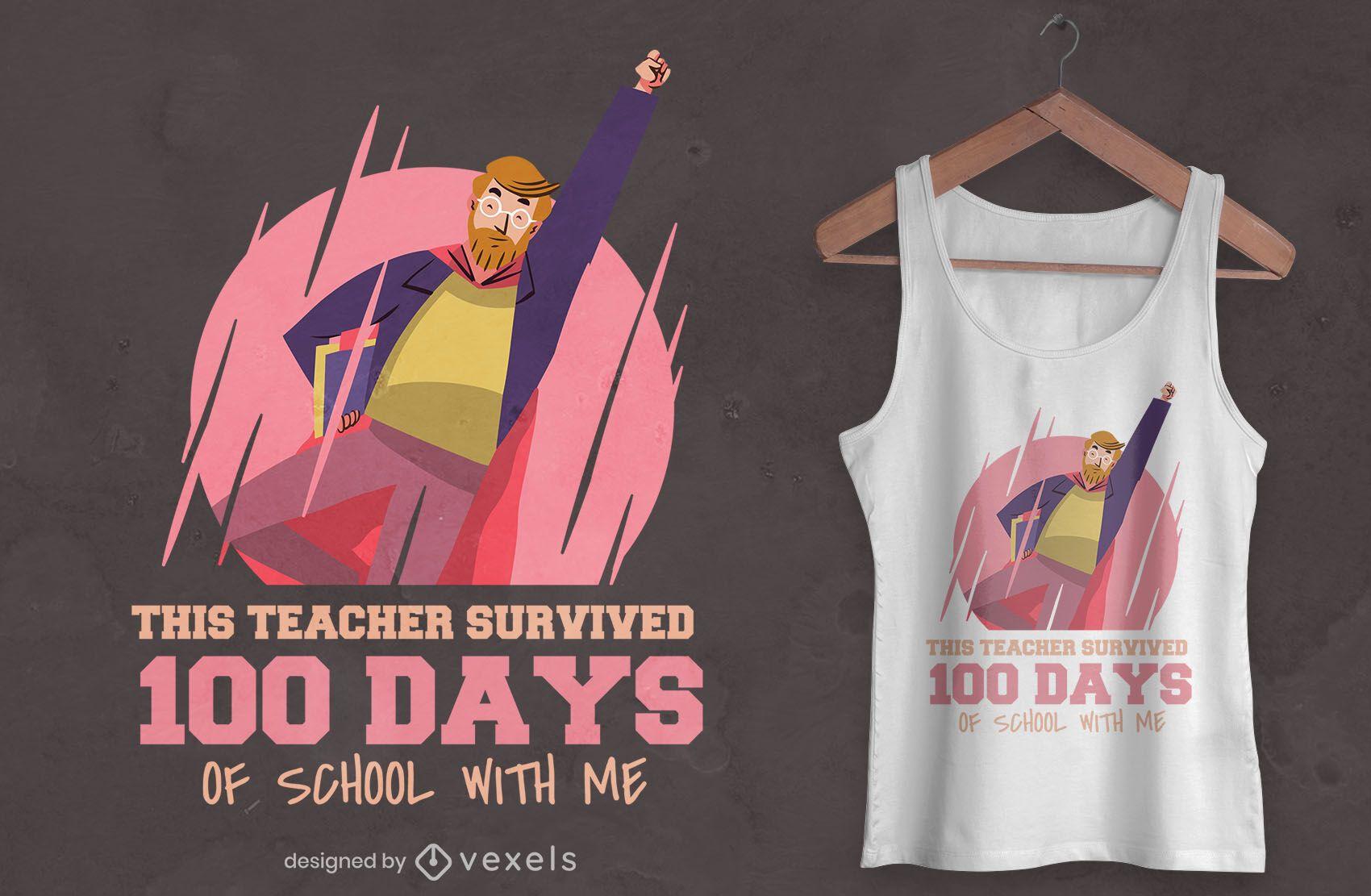 Diseño de camiseta de maestro de superhéroe.