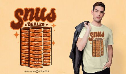 Design de camiseta do revendedor Snus