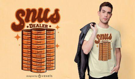 Diseño de camiseta de distribuidor de snus
