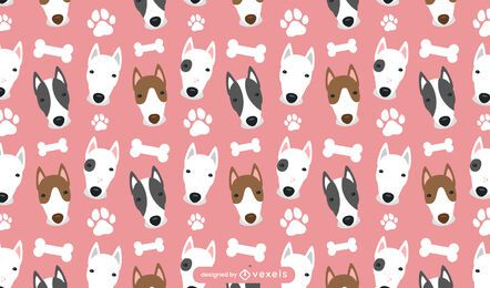 Bull terrier pattern design