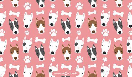 Diseño de patrón de bull terrier