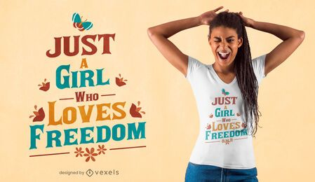 Diseño de camiseta Freedom lover quote