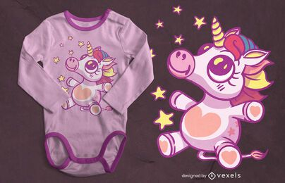 Baby unicorn t-shirt design
