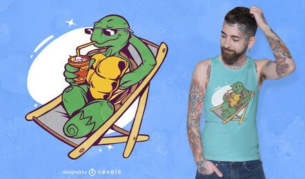 Summer turtle t-shirt design
