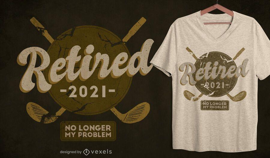 Diseño de camiseta de golf retirado