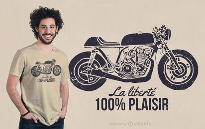 Diseño de camiseta café racer