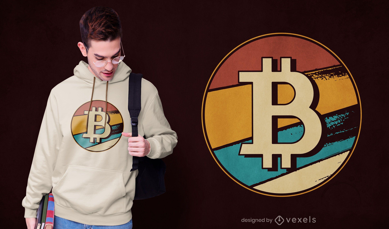 Diseño de camiseta retro Bitcoin