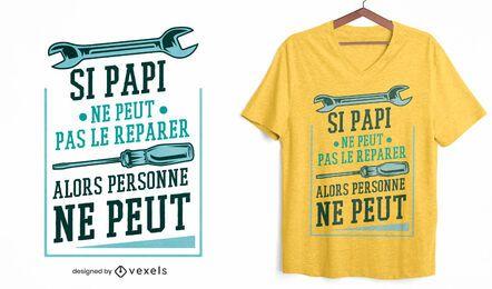 Diseño de camiseta de herramientas de abuelo.