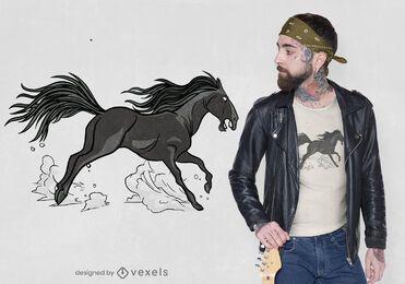 Diseño de camiseta frisean horse