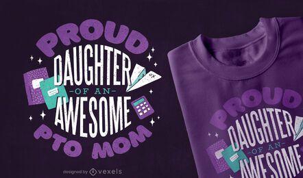 Design de t-shirt mãe PTO
