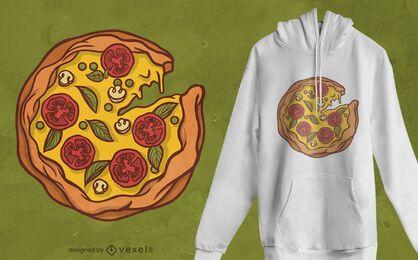 Desenho de t-shirt de pizza em falta
