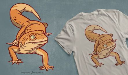 Design de camiseta Gecko