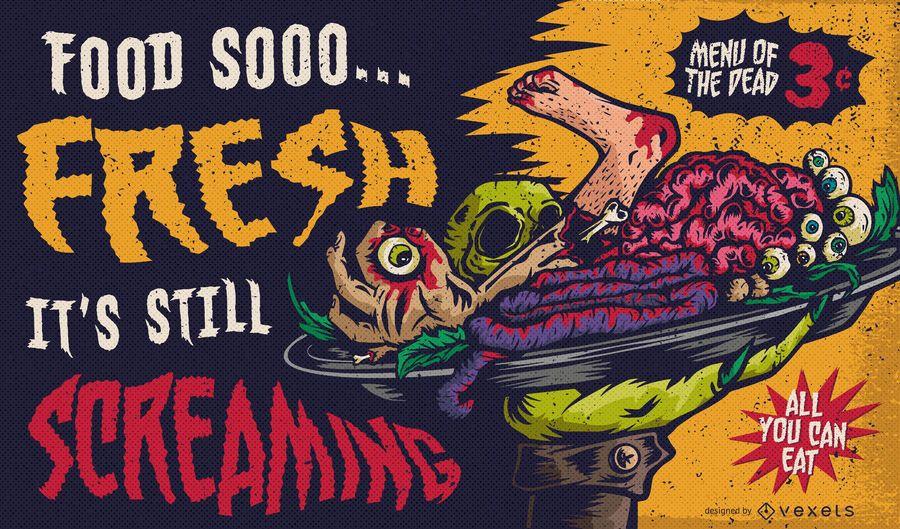 Cannibal menu illustration