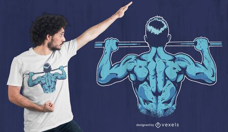 Calisthenics pull up t-shirt design
