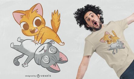 CPR Katzen T-Shirt Design